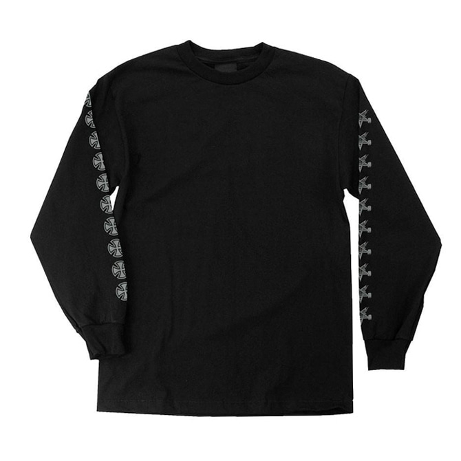 INDEPENDENT X THRASHER PANTAGRAM CROSS L/S - BLACK