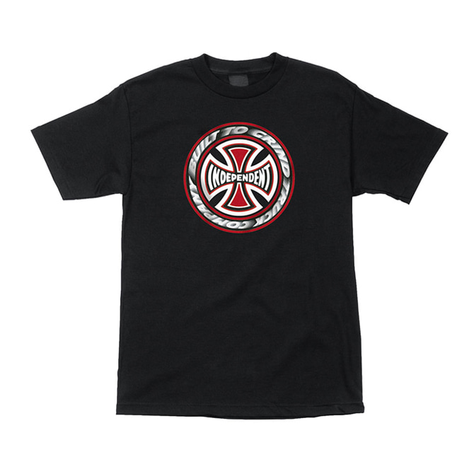 INDEPENDENT T/C BLAZE TEE - BLACK