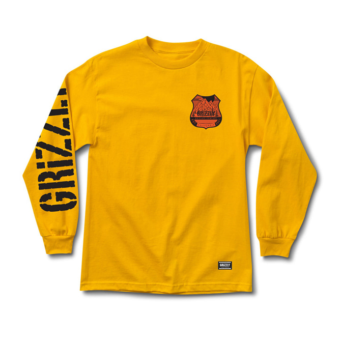 GRIZZLY 10,000 FEET L/S TEE - GOLD