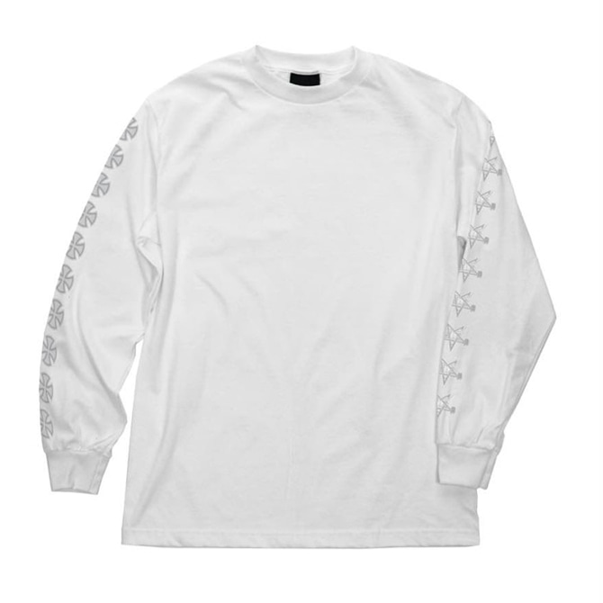 INDEPENDENT X THRASHER PANTAGRAM CROSS L/S - WHITE