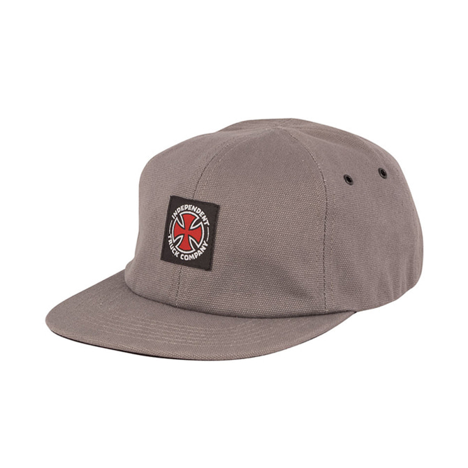 INDEPENDENT APPLIED STRAPBACK - GREY