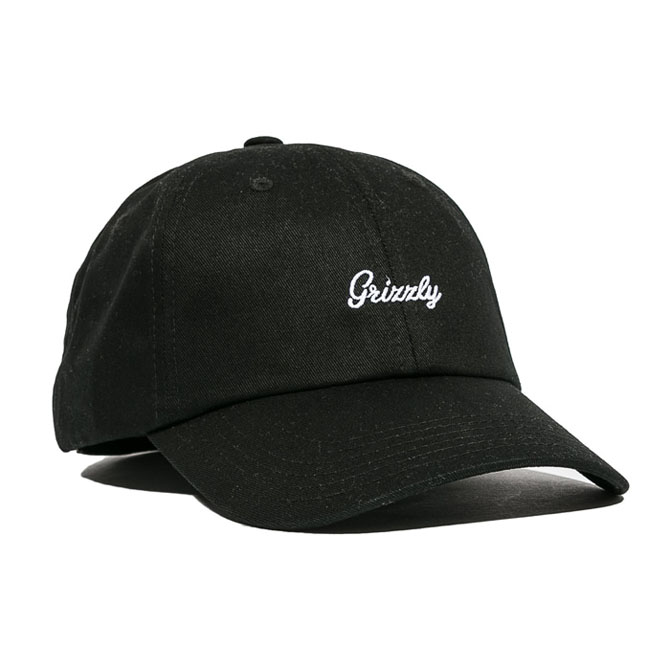 GRIZZLY LATE TO THE GAME DAD HAT - BLACK/WHITE