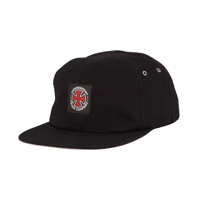 INDEPENDENT APPLIED STRAPBACK - BLACK