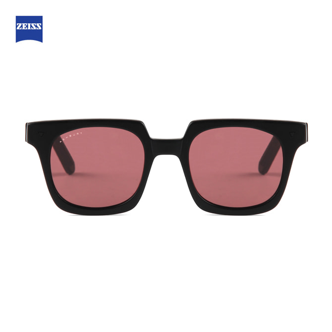 ASHBURY ACE MATTE BLACK WITH ROSE LENS