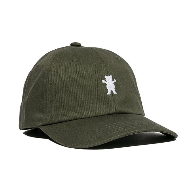 GRIZZLY OG DAD BEAR LOGO HAT - OLIVE/WHITE