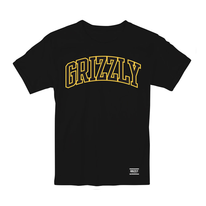 GRIZZLY UNIVERSITY TEE - BLACK