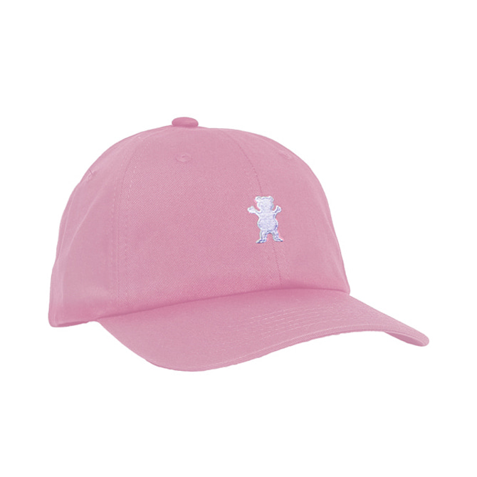 GRIZZLY OG BEAR STRAPBACK - PINK/WHITE