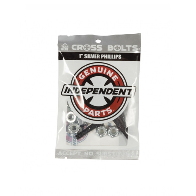 "INDEPENDENT HARDWARE BLACK/SILVER 1"" PHILLIPS"