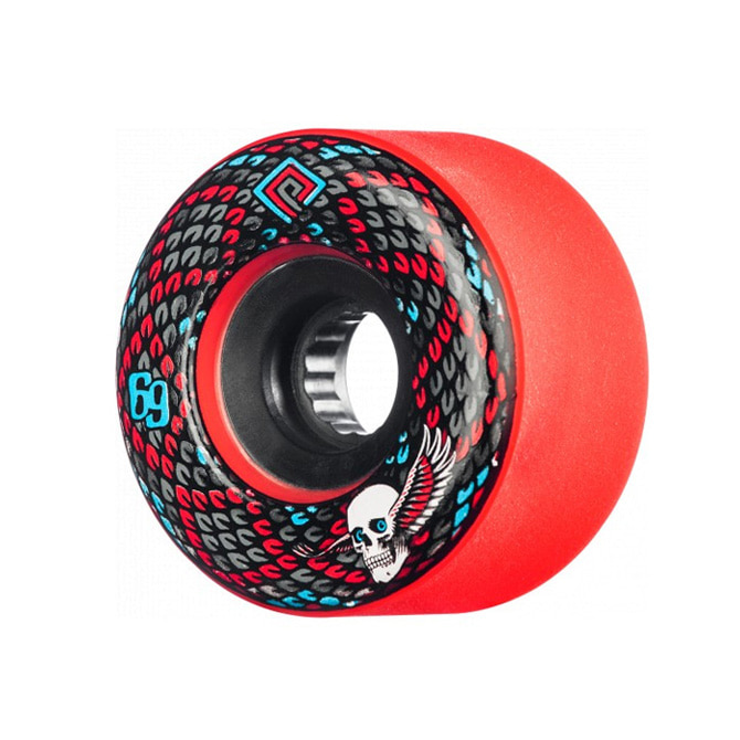 POWELL PERALTA SNAKES WHEELS RED 69MM 75A