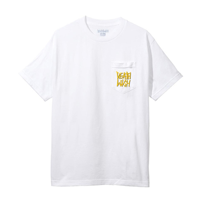 DEATHWISH THE TRUTH POCKET TEE - WHITE/GOLD