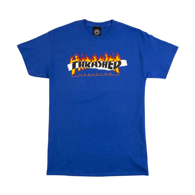 THRASHER RIPPED TEE - ROYAL BLUE