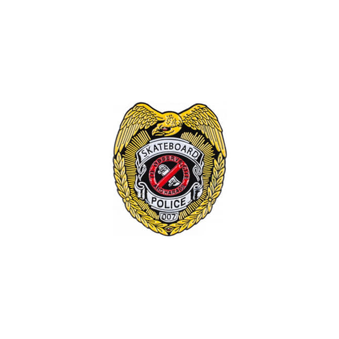 POWELL PERALTA POLICE LAPEL PIN