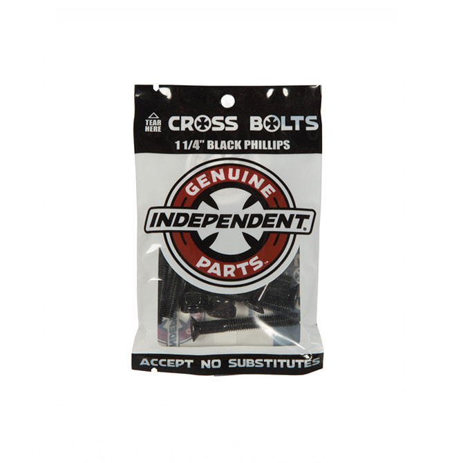 "INDEPENDENT HARDWARE BLACK 1 1/4"" PHILLIPS"