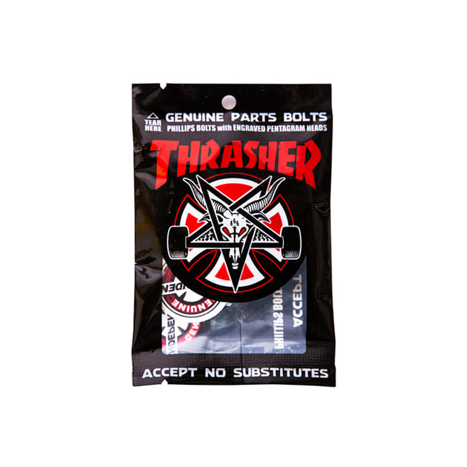 "INDEPENDENT THRASHER HARDWARE BLACK/SILVER 7/8"" PHILLIPS"