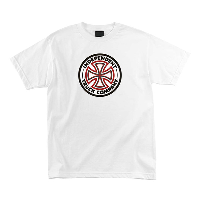 INDEPENDENT RED/WHITE CROSS TEE - WHITE