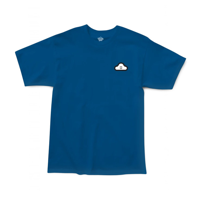 THANK YOU THANK YOU CLOUDY TEE - BLUE/WHITE
