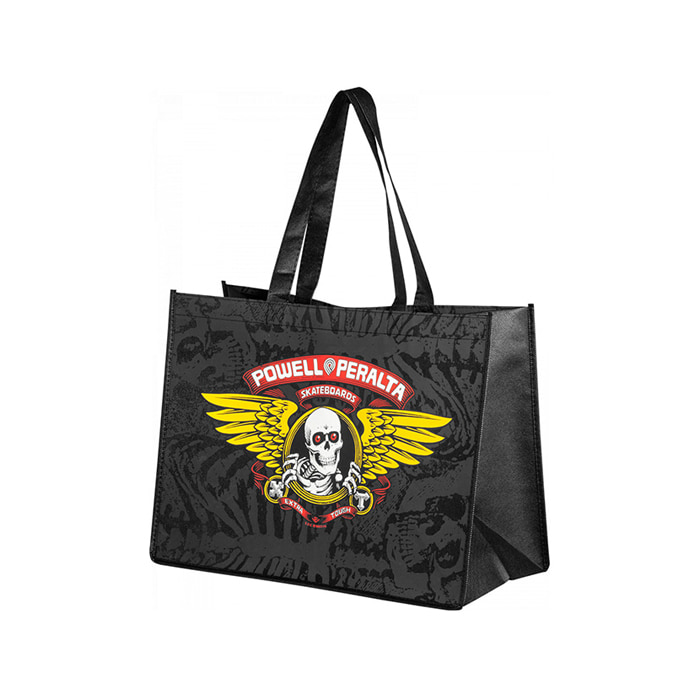 POWELL PERALTA WINGED RIPPER SHOPPING BAG NON WOVEN - BLACK