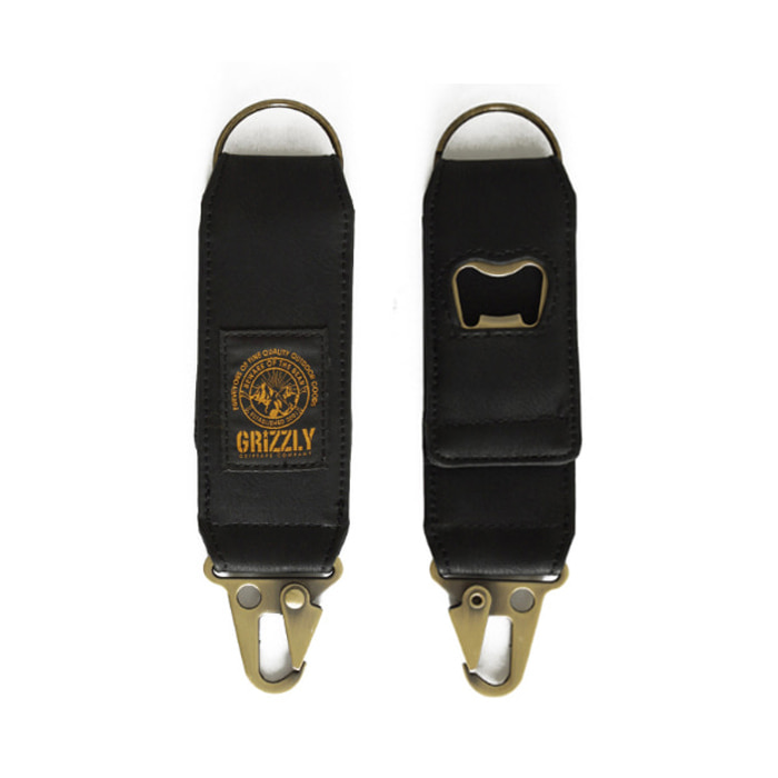 GRIZZLY GGC KEYCHAIN - BLACK
