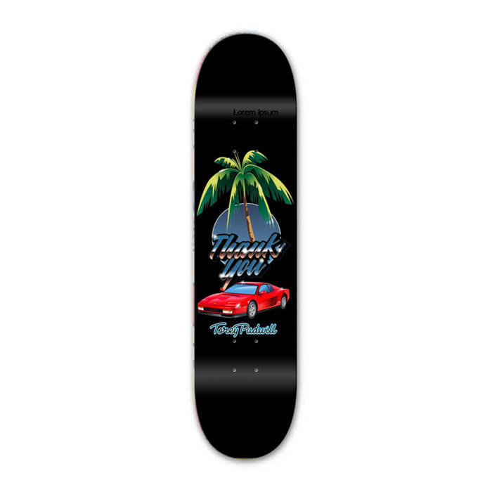 THANK YOU TOREY PUDWILL RARI NIGHTS DECK - BLACK [8.00, 8.25]