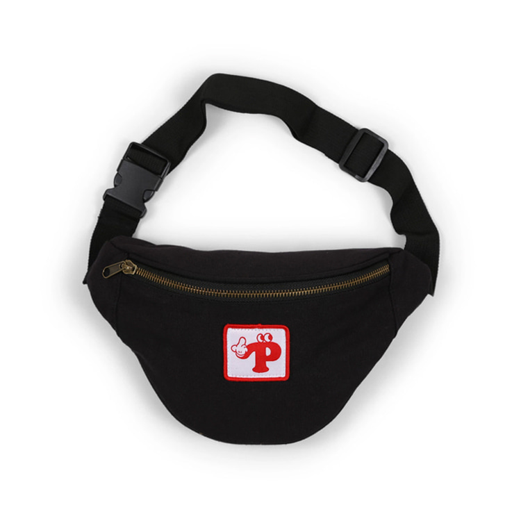 PIZZA WATCH YOUR STEP FANNY PACK - BLACK