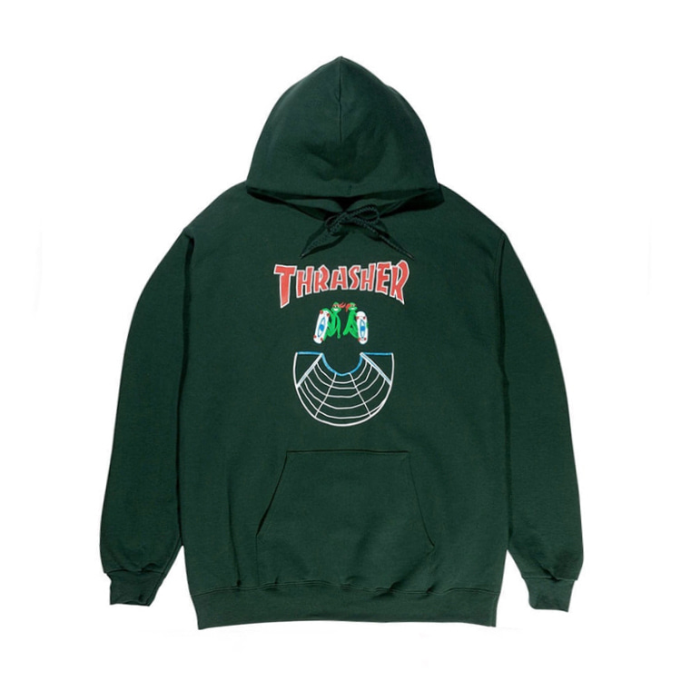 THRASHER DOUBLES HOOD - FOREST