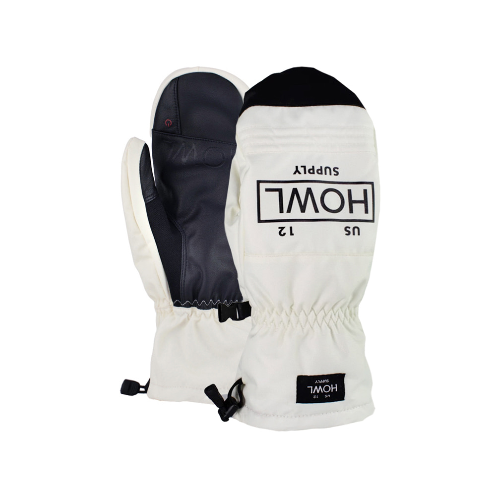 HOWL SUPPLY  TEAM MITT SNOW WHITE