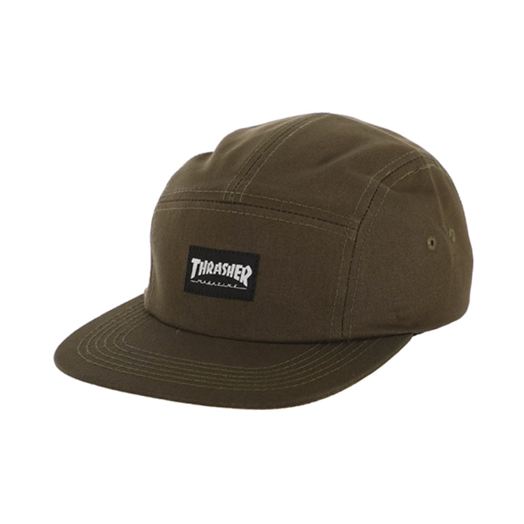 THRASHER THRASHER 5 PANEL HAT - ARMY