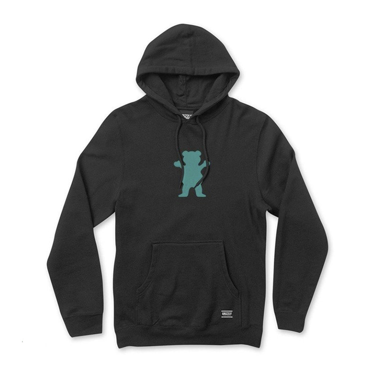 GRIZZLY OG BEAR HOODIE - BLACK/TIFFANY