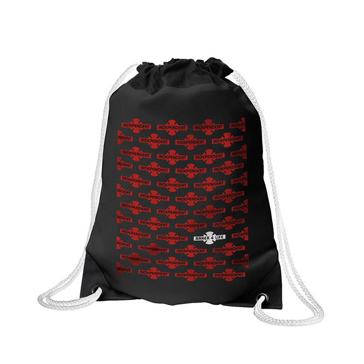 INDEPENDENT X BAKER BAKER 4 LIFE CINCH SACK - BLACK