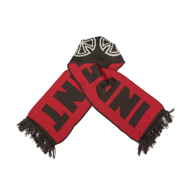 INDEPENDENT WOVEN CROSSES SCARF - BLACK/RED