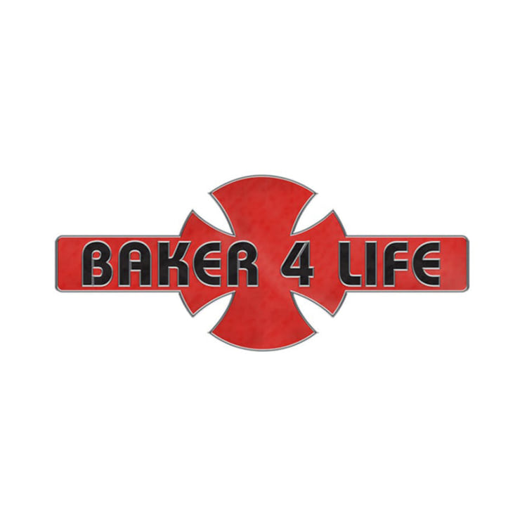 INDEPENDENT X BAKER BAKER 4 LIFE PIN - RED/BLACK