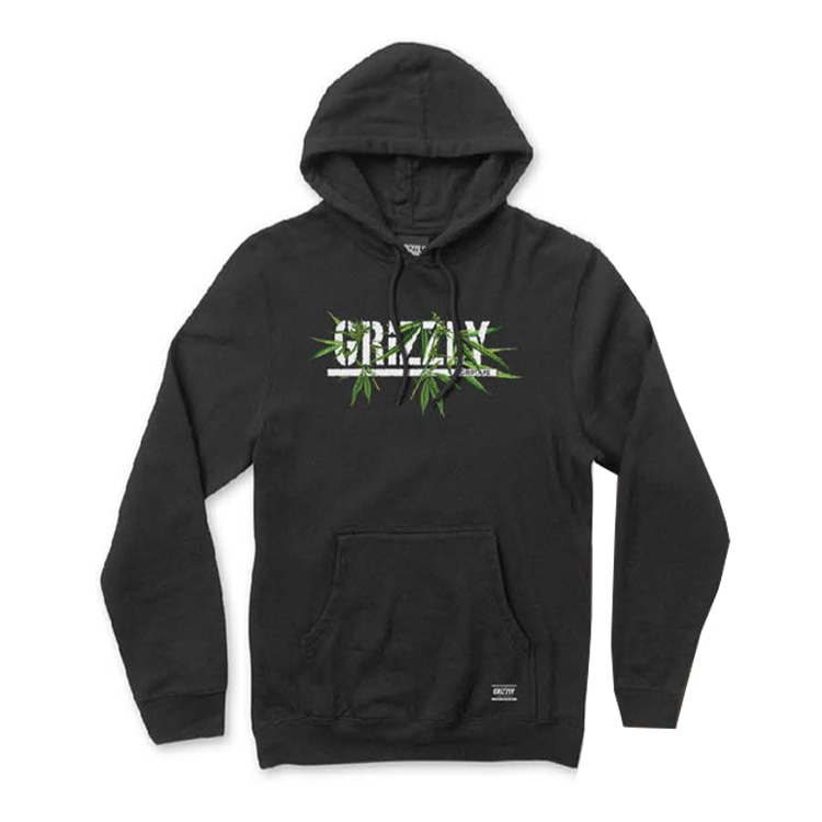 GRIZZLY SEEDS STAMP HOOD - BLACK