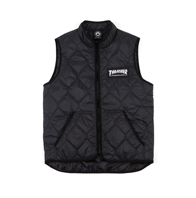 THRASHER MAGAZINE LOGO VEST - BLACK