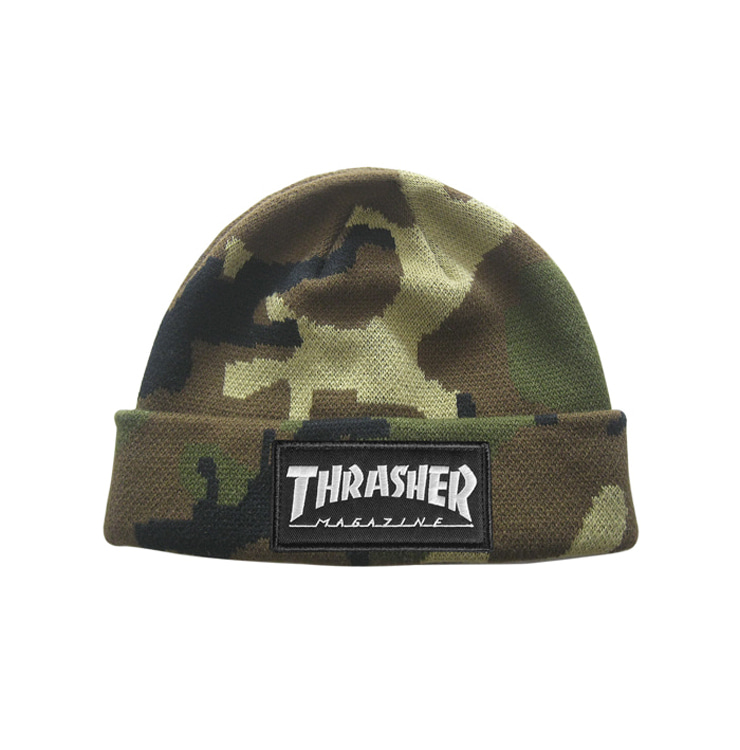THRASHER LOGO PATCH BEANIE - CAMO