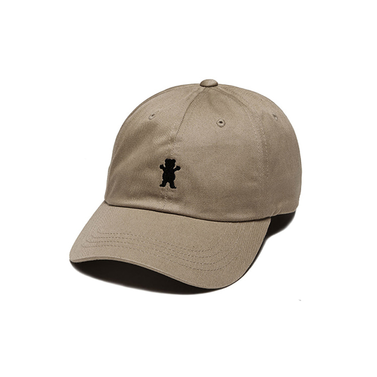 GRIZZLY OG BEAR DAD HAT - KHAKI/BLACK