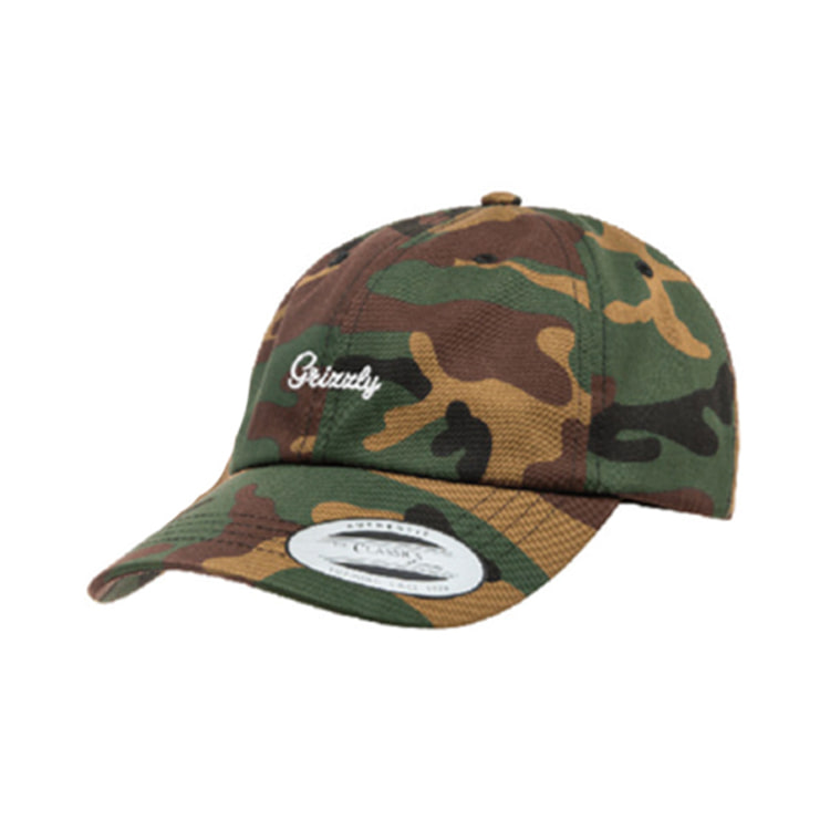 GRIZZLY LATE TO THE GAME DAD HAT - CAMO/WHITE