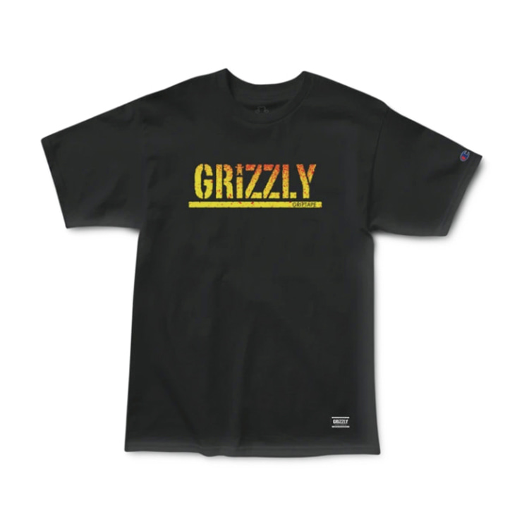 GRIZZLY STAMP FADEAWAY S/S TEE - BLACK