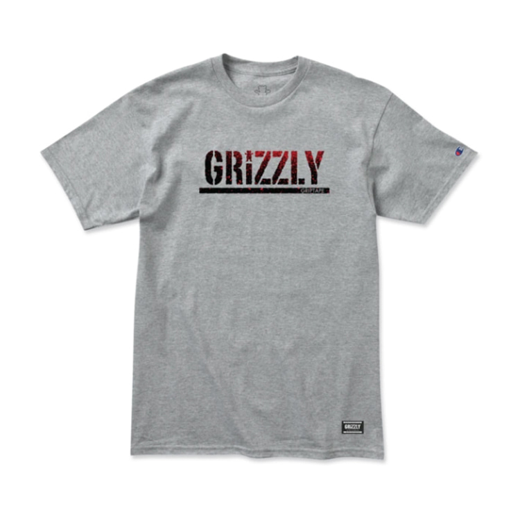 GRIZZLY OG BEAR FADEAWAY S/S - HEATHER GREY
