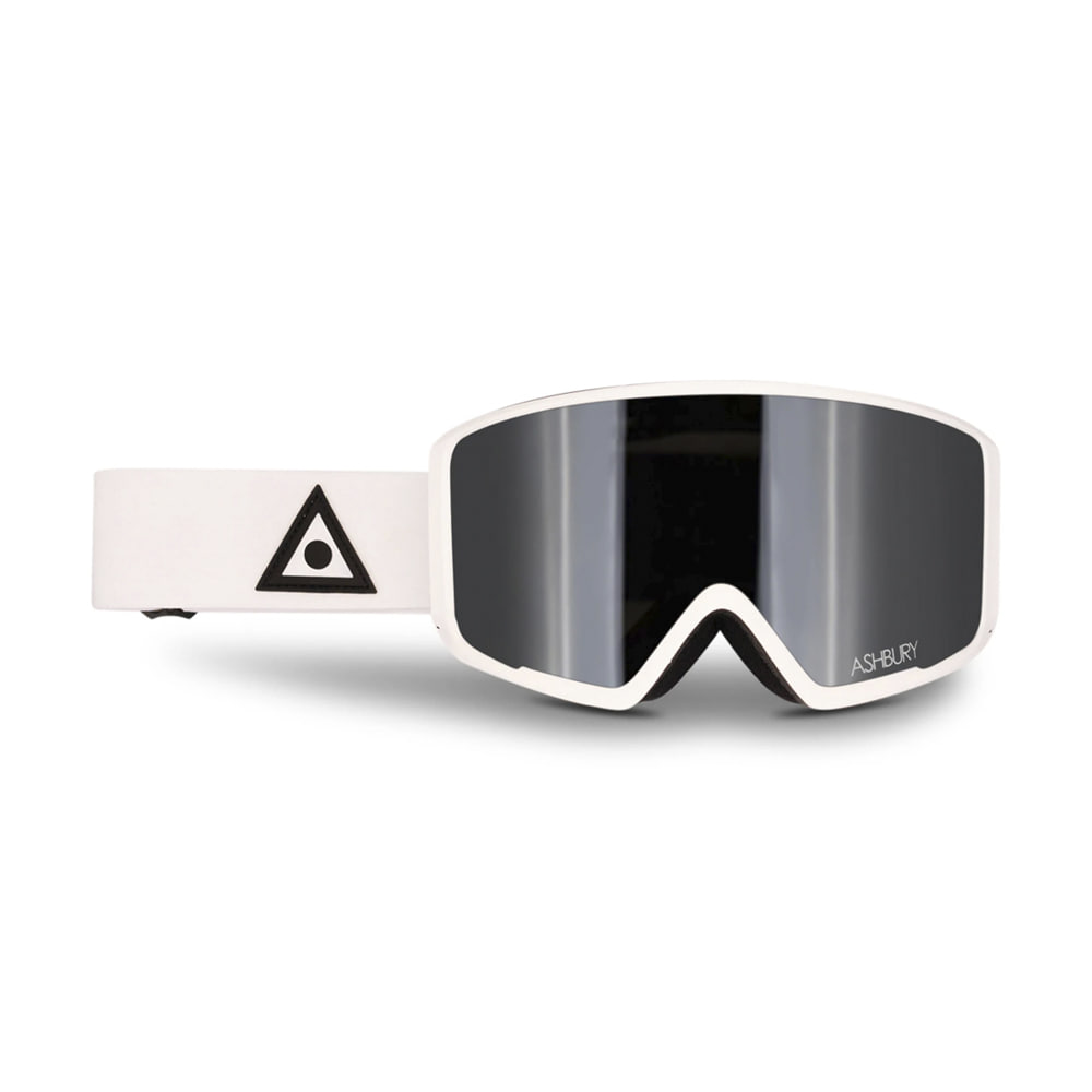 ASHBURY [MAGNETIC] ARROW WHITE TRIANGLE: Silver mirror lens + Clear lens