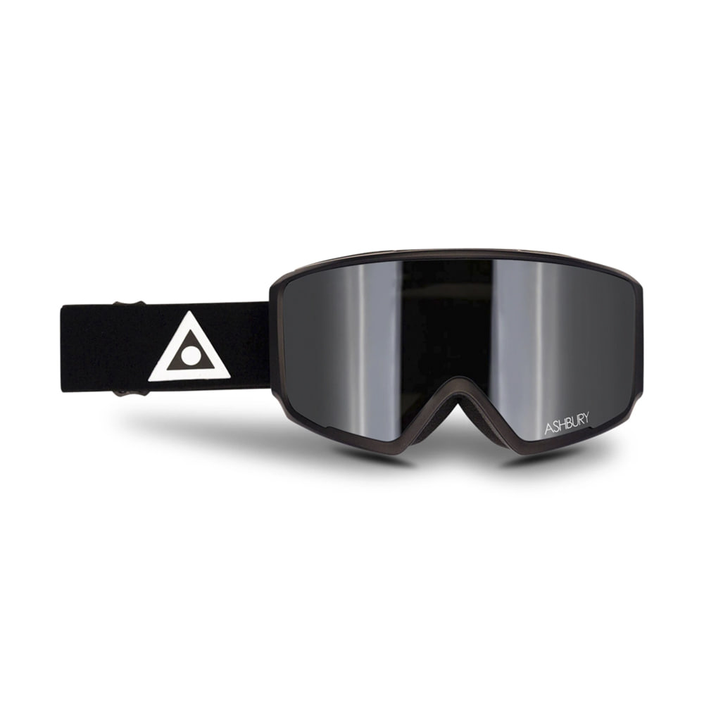 ASHBURY [MAGNETIC] ARROW BLACK TRIANGLE: Silver mirror lens + Clear lens