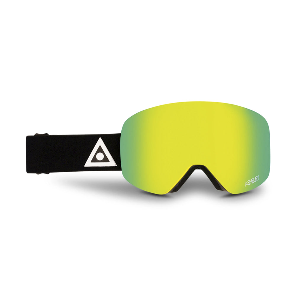 ASHBURY [MAGNETIC] HORNET BLACK TRIANGLE: Silver mirror lens + Clear lens