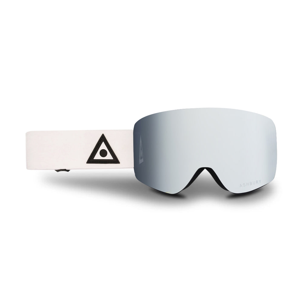 ASHBURY [FLAMELESS] SONIC WHITE TRIANGLE: Silver mirror lens + Clear lens