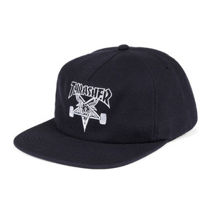 THRASHER SKATEGOAT WOOL BLEND SNAPBACK NAVY