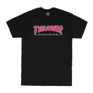 THRASHER OUTLINED TEE BLACK
