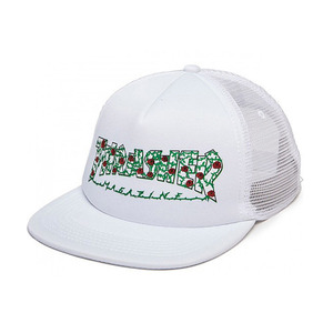 THRASHER ROSES MESH HAT WHITE