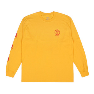PUBLIC FLAMING HEAD LONGSLEEVE YELLOW