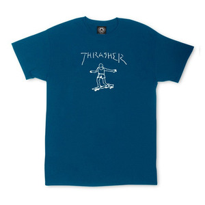 THRASHER GONZ TEE BY MARK GOZALES - NAVY