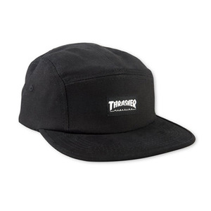 THRASHER THRASHER 5 PANEL CAP - BLACK