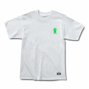 GRIZZLY TRIPPIN TEE - WHITE