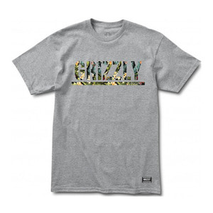 GRIZZLY TJ ROGERS STMAP TEE - HEATHER GREY